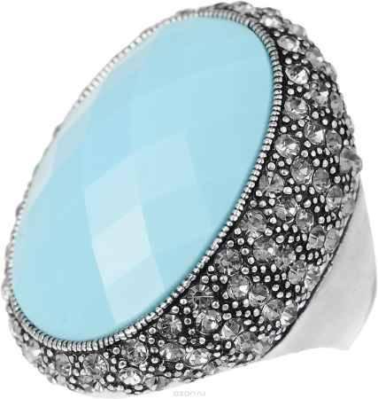 Купить Кольцо Art-Silver, цвет: серебристый, голубой. V060871R-1418. Размер 18,5