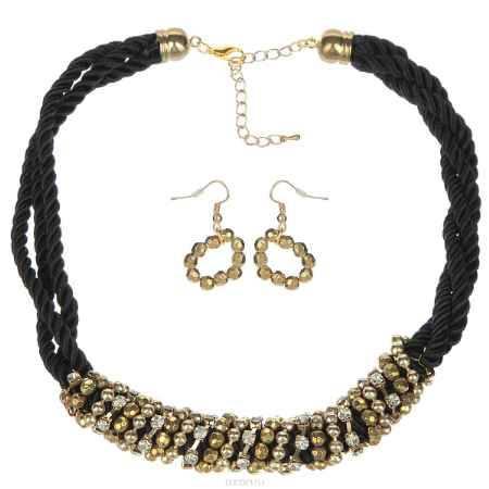 Купить Комплект Avgad: колье, серьги, цвет: золотистый, черный. H-477S805