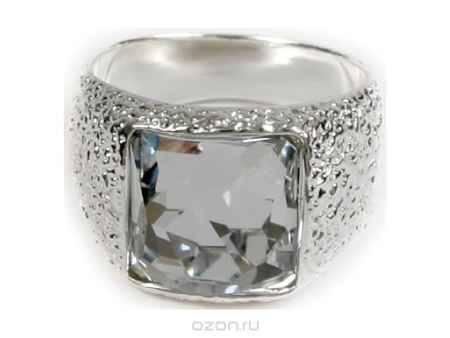 Купить Кольцо Jenavi Коллекция Тайны вселенной Алудра, цвет: серебряный, белый. b833f000. Размер 17