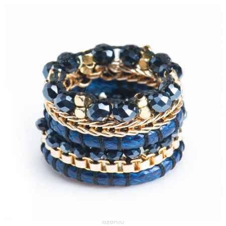 Купить Кольцо женское Selena Beatrice, цвет: золотистый, синий. 60024700