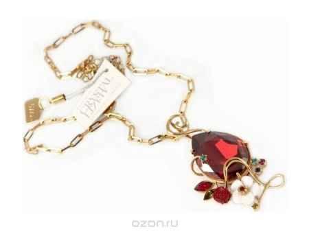 Купить Кулон Jenavi Коллекция Королевская Орхидея Эридес, цвет: золотой, красный. v638p916. Размер 37+5,5