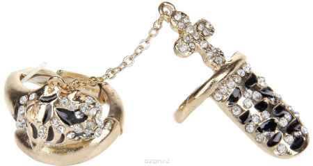 Купить Кольцо Avgad, цвет: золотистый, черный. EA178JW265