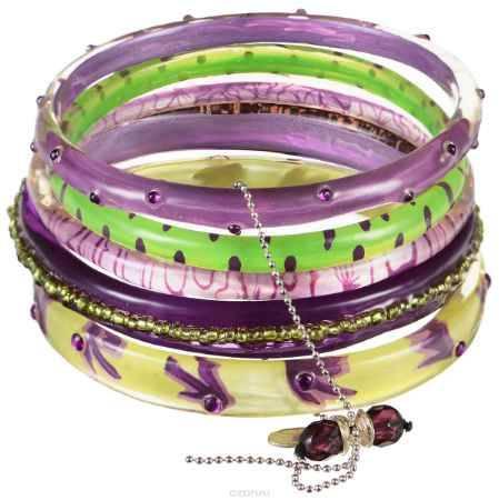 Купить Браслет Lalo Treasures ROW, цвет: сиреневый, зеленый. Bn2513