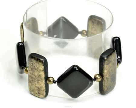 Купить Браслет Bohemia Style, цвет: черный, золотистый. 165 5076 49