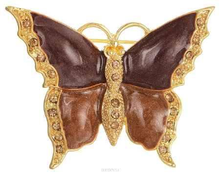 Купить Брошь Happy Charms Family, цвет: золотистый, коричневый. NOAU0253
