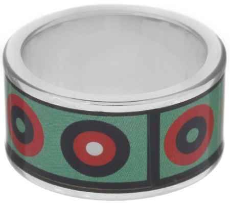 Купить Кольцо Art-Silver, цвет: серебристый, зеленый, мультиколор. ФК102-320. Размер 18,5