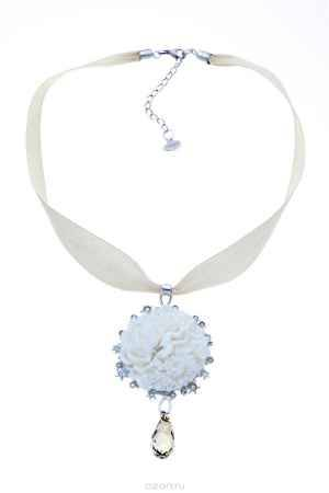 Купить Кулон Jenavi Коллекция Бурунди Бурунди, цвет: серебряный, белый. f393f9w0. Размер 5x8