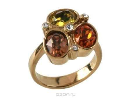 Купить Кольцо Jenavi Коллекция Дефиле Коллаж, цвет: золотой, мультиколор. b965p070. Размер 18