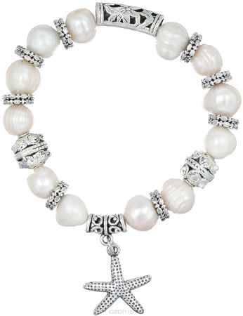 Купить Браслет Migura, цвет: серебряный, белый. NOAJ1132