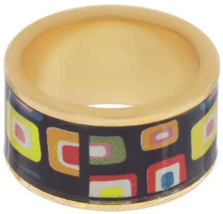Купить Кольцо Art-Silver, цвет: золотой, черный, мультиколор. ФК105-320. Размер 16,5