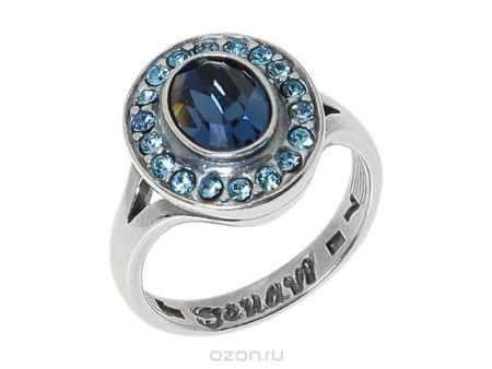Купить Кольцо Jenavi Коллекция Murano Навогеро, цвет: серебряный, синий. r4683044. Размер 18