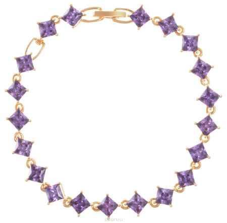 Купить Браслет Fashion House, цвет: золотой, фиолетовый. FH32861