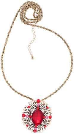 Купить Кулон-брошь Taya, цвет: золотистый, красный, белый. T-B-10944