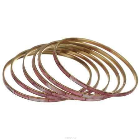 Купить Набор браслетов Ethnica, цвет: розовый, 6 шт. 098045