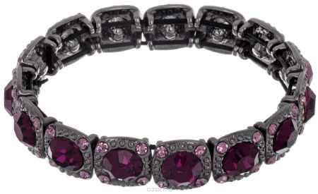 Купить Браслет Taya, цвет: гематит, пурпурный. T-B-5229