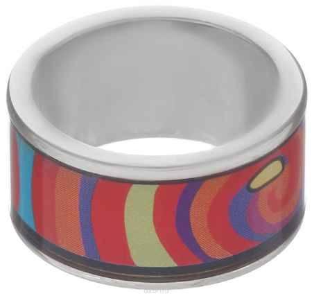Купить Кольцо Art-Silver, цвет: серебристый, красный, синий. ФК115-1-320. Размер 18,5