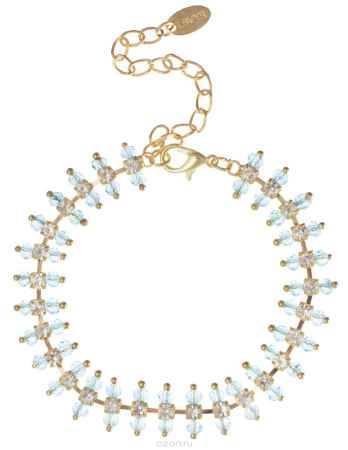 Купить Браслет Fashion House, цвет: золотой, белый, голубой. FH32794