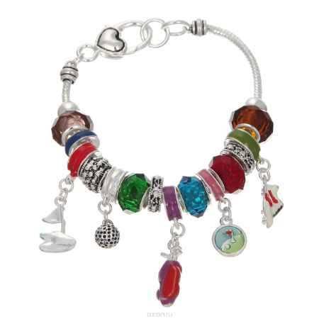 Купить Браслет Taya, цвет: серебристый, мультиколор. T-B-5591-BRAC-SL.MULTI