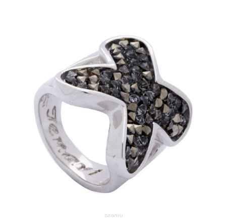 Купить Кольцо Jenavi Коллекция Квазар Сетус, цвет: серебряный, серый. j942f066. Размер 16