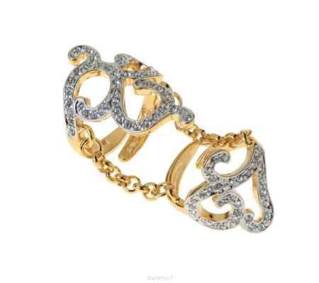 Купить Кольцо Jenavi Коллекция Binario Сиерра, цвет: золотой, белый. r769q000. Размер б/р