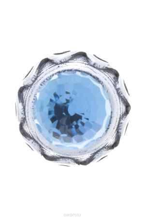 Купить Накладка на кольцо-основу Jenavi Коллекция Ротор Ксавар, цвет: серебряный, голубой. k1873r40. Размер 1