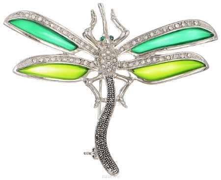 Купить Брошь Happy Charms Family, цвет: серебристый, зеленый. NOAU0263