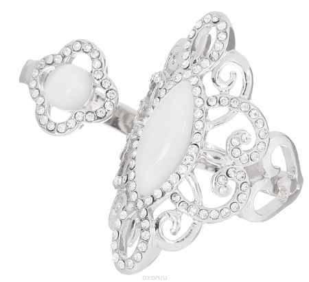 Купить Кольцо на два пальца Art-Silver, цвет: серебристый. 069016-1319. Размер 18,5