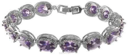 Купить Браслет Fashion House, цвет: серебряный, фиолетовый. FH32830