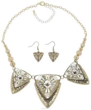 Купить Комплект украшений Avgad: колье, серьги, цвет: бронзовый. H-477S1013