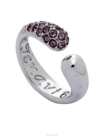 Купить Кольцо Jenavi Коллекция Озон Идка, цвет: серебряный, розовый. j954f010. Размер 16