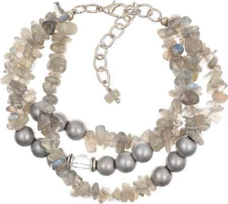 Купить Браслет Polina Selezneva, цвет: серый, серебристый. 002-2595
