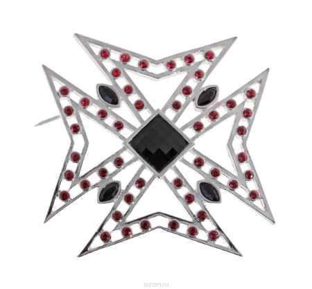 Купить Брошь Jenavi Коллекция Орден Сердца Орден Креста, цвет: серебряный, мультиколор. j614f670. Размер 5,55,5