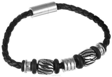 Купить Браслет Art-Silver, цвет: серебристый, черный. 00038-556
