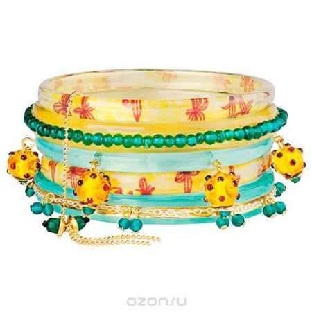 Купить Браслет Lalo Treasures River Running Free, цвет: желтый, бирюзовый. Bn2537