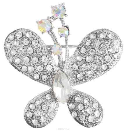 Купить Брошь Migura, цвет: серебряный, белый. NOAE0324