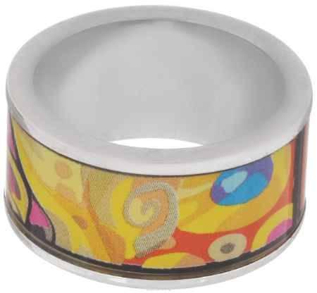 Купить Кольцо Art-Silver, цвет: серебристый, желтый, оранжевый. ФК130-1-320. Размер 17,5
