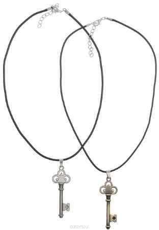 Купить Кулон Happy Charms Family, цвет: черный, серебряный, золотистый, 2 шт. NODL0013