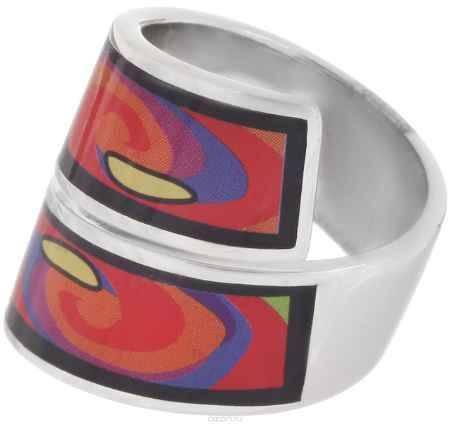 Купить Кольцо Art-Silver, цвет: серебристый, черный, оранжевый. ФК135-1-320. Размер 18