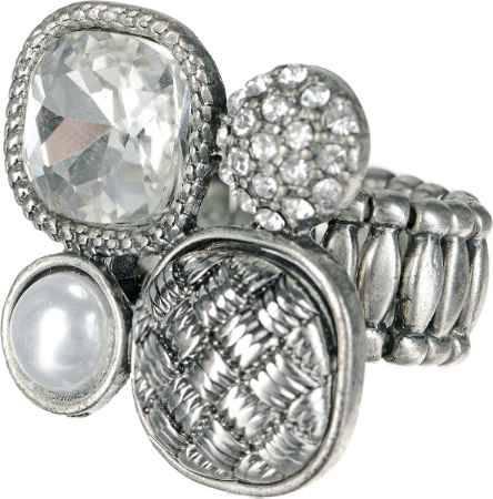 Купить Кольцо Taya, цвет: серебристый. T-B-1191