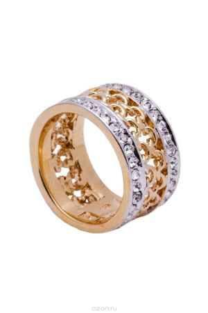 Купить Кольцо Jenavi Коллекция Relax Макатава, цвет: золотой, белый. r966q000. Размер 17