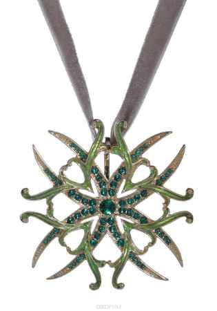 Купить Кулон Jenavi Коллекция Орден Сердца Орден Лилии, цвет: золотой, зеленый. j615p930. Размер 5x5