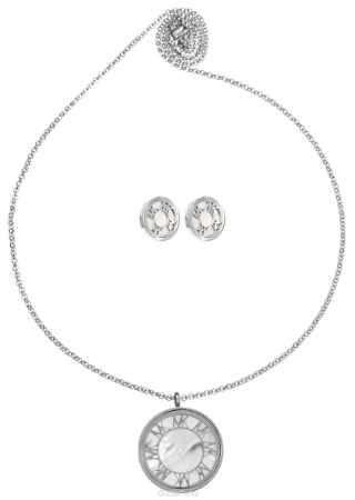Купить Комплект Art-Silver: колье, серьги, цвет: серебряный. СТ1910-733