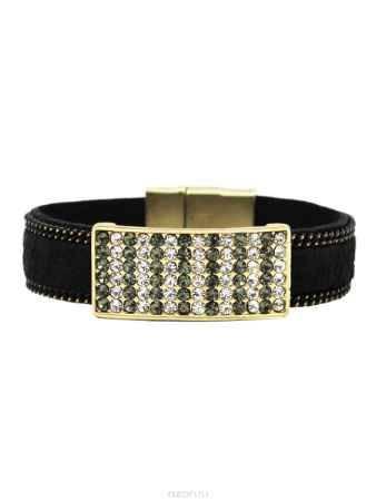 Купить Браслет Taya, цвет: золотистый, черный. T-B-10576