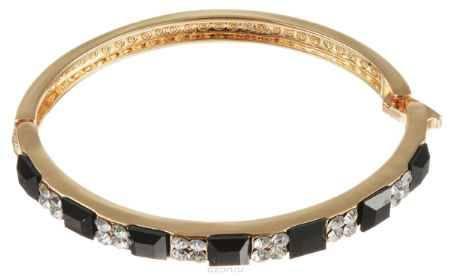 Купить Браслет Taya, цвет: золотистый, черный. T-B-10783-BRAC-GL.BLACK