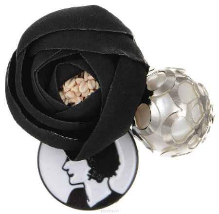 Купить Брошь Happy Charms Family, цвет: черный, белый. NOAK0358