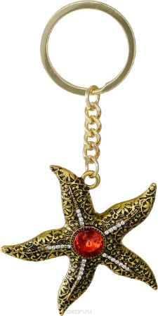 Купить Брелок женский Mitya Veselkov, цвет: золотой, красный. BRELOK-STARFISH