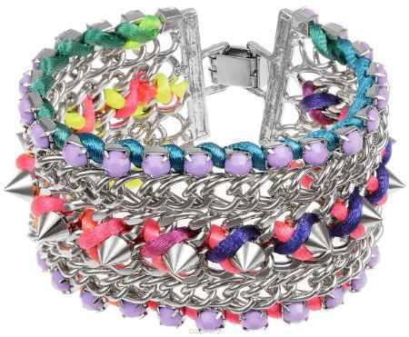 Купить Браслет Fashion House, цвет: серебряный, мультицвет. FH29958