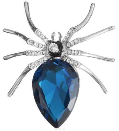 Купить Брошь Happy Charms Family, цвет: серебряный, синий, белый. NOAE0358