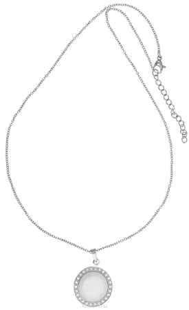 Купить Кулон Art-Silver, цвет: серебряный, белый. КБ0988-733
