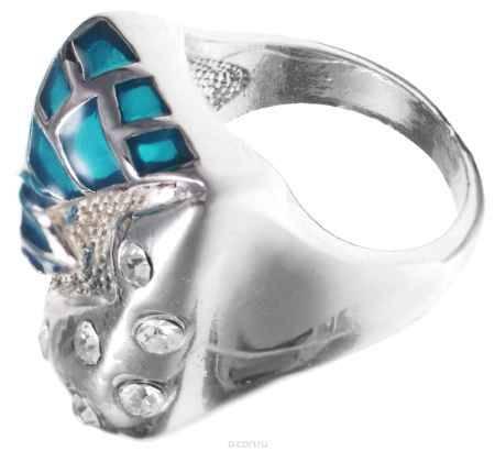Купить Кольцо Taya, цвет: синий, серебряный. Размер 19. T-B-8698